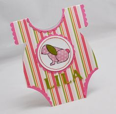 Baby Girl Onesie Card Personalized