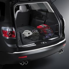 Acadia Denali Cargo Net, Black:Enhance the efficiency of your vehicle with this black Cargo Net. It attaches easily to the sides of your cargo area to keep small, light items neat and handy while in transit.