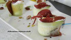 Rotolini di cetrioli con bresaola e ricotta