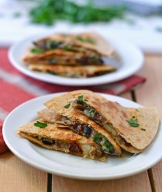 Mushroom and Sundried Tomato Quesadillas