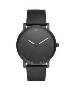 Skagen  Mens Hagen Leather Watch
