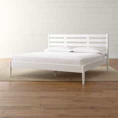 Barnes White King Bed | Crate and Barrel
