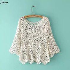 Crochet Blouse Fashion Boho Chic – Hippie BLiss - New Site Crochet Collar, Crochet Blouse, Crochet Lace, Boho Chic, Bohemian Mode, Bohemian Schick, Black Crochet Dress, Moda Boho, Estilo Boho