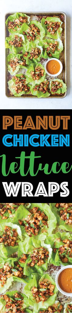 Peanut Chicken Lettuce Wraps - A super quick dinner made in 25 min! It's so hearty, filling, and low-carb, yet the family will still be begging for more!