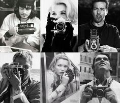 Famous people with cameras