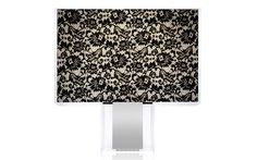 1-09170/PZ Lace Table, Opaline, Light Table, Diffuser, Chrome, Art Deco, Table Lamp, Lights, Contemporary