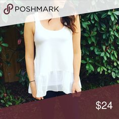 Josie Top! Meet Josie! This new flowy tank is perfect to dress up or down! $24 (S-L)! Tops Tank Tops