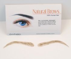 False eyebrows! Who knew such an awesome thing existed?  #beauty #makeup #eyebrows #hairloss #cancer
