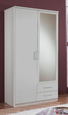 Roma 2 Door 2 Drawer German White Wardrobe Alpine White Effect Wardrobe Interior Design, Wardrobe Door Designs, Bedroom Closet Design, Bedroom Furniture Design, Closet Designs, Bedroom Cupboard Designs, Dorm Room Designs, Bedroom Cupboards, White Cupboards