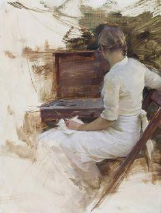 Jeremy Lipking  'Katie Painting'