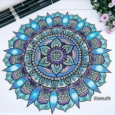 Mandala design by @jane.p94
