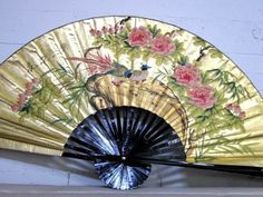 24 Chinese Oriental Handpainted Folding Paper Wall Fan Decor Lucky Love Birds