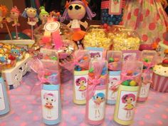 Favors at a Lalaloopsy Party - DIY by using toilet paper rolls, colored paper, & Stickers (or printed images)!!