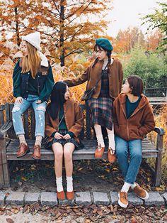 Autumn // warmer winter Tartan + warm brown + THE SHOES!