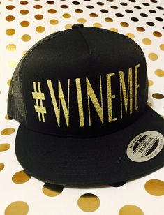 1 Black Trucker Style Hat for Wine Lovers ✨✨🍷✨✨  WINEME   7a46aed81e3