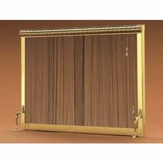 9116 Pull Chain Standing Curtain Fireplace Screen   38