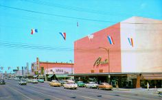 Brock's Department Store | Bakersfield, California.  After the great earthquake, Brock's was housed in a circus tent until the new store was built downtown.  Brock's was later sold to Gottschalk's.