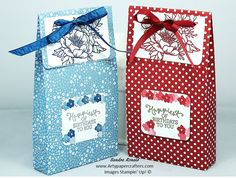 Watch my paper crafting video tutorial that shows how I made this Large Gift Bag using Stampin' Up Products. Visit me at Artypapercrafters.com.