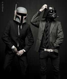 Photo shoot with Star Wars Boba Fett and Darth Vader