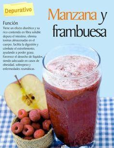 Jugo Manzana - frambuesa