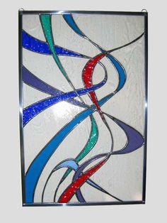 Woosh Stained Glass Panel by *lunarisingart on deviantART