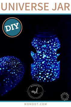 Its so easy for kids to participate in making this light-up jar that looks just like the universe! Check out the tips and tutorial to help make this creative jar that helps you hold the universe in your hands! Mason Jar Crafts, Mason Jar Diy, Fireflies In A Jar, Painted Mason Jars, Birthday Crafts, Fairy Lights, Light Up, Craft Supplies, Hold On