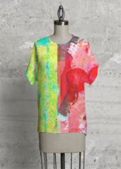 With a chic geometric cut, this top is the modern upgrade to your classic tee. Summer Dream, Print Patterns, Chic, Tees, Classic, Unique, Modern, Artist, Artwork