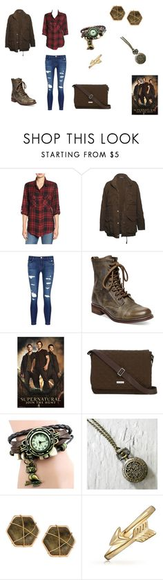 """""""Sam Winchester Inspired Look"""" by b-bryant1816 on Polyvore featuring Sanctuary, Vince, J Brand, Steve Madden, Vera Bradley, Panacea, Bling Jewelry and supernatural"""
