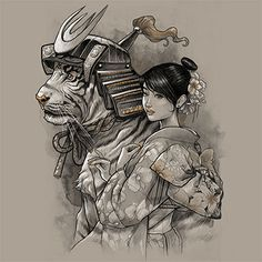 (ignore the girl) Samurai Tiger by *Design-By-Humans on deviantART