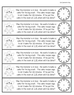 telling time February Math Journal Freebie for Grade 2nd Grade Reading, Second Grade Math, Grade 2, Teaching Time, Teaching Math, Teaching Ideas, Time Word Problems, Math Problems, Math Classroom