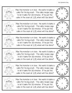 telling time February Math Journal Freebie for Grade Teaching Time, Teaching Math, Teaching Ideas, Time Word Problems, Math Problems, Math Classroom, Math Math, Math Fractions, Math Games