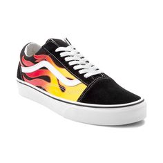 79ac84a36eb Fire up your awesome style with the new Old Skool Flames Skate Shoe from  Vans! The Old Skool Flames Skate Shoe sports a sturdy suede and canvas  upper with ...