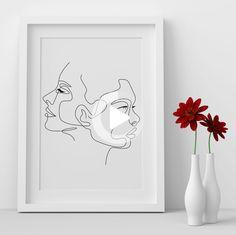 Woman Face Line Art, Minimalist Line Art, abstract wall art, One Line Drawing, simple line #drawing #drawingideas Cactus Drawing, Face Lines, Simple Lines, Abstract Wall Art, Woman Face, Line Drawing, Line Art, Minimalist, Art Prints