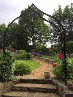 Gothic rose arch in my garden.