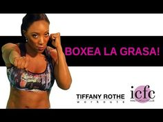 Boxea La Grasa! Rutina de 10 minutos con Tiffany Rothe Tabata, Cardio, Kick Boxing, Total Body, Workout Videos, Tiffany, Youtube, Kicks, Exercise
