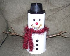 Formula can snowman. I have so many formula cans, It's ridiculous lol
