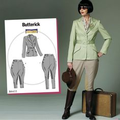 Butterick Sewing Pattern B6433 Misses' Victorian Costume - Polo Player / Horse Rider … WeaverDee.com