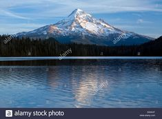 Download this stock image: USA, Lost Lake, Mt Hood, Mount Hood, lake, water, mountain, cascade range, volcano, Vulcan, OR, Oregon, fall, sunset, vertical, - D0XK4T from Alamy's library of millions of high resolution stock photos, illustrations and vectors.