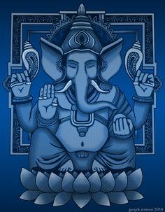 Ganesh Halftone by GaryckArntzen on DeviantArt Ganesha Drawing, Lord Ganesha Paintings, Lord Shiva Painting, Ganesha Art, Ganesh Lord, Shri Ganesh, Krishna, Cubist Art, Ganesh Images