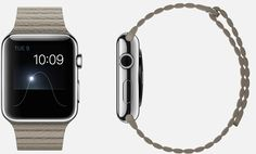 #Apple #Watch 42mm Case 316L Stainless Steel Sapphire Crystal Display Ceramic Back Leather Loop Stone Leather Magnetic Closure