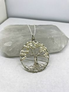 Pearl Sterling Silver Tree Of Life Pearl Necklace Sterling http://etsy.me/2xHv6CZ via @Etsy