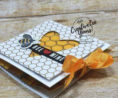 Be Mine Treat Holder - Creativelee Yours Valentine Treats, Valentine Day Cards, Valentine Cupcakes, Heart Cupcakes, Pink Cupcakes, Bee Cards, Treat Holder, Birthday Cards, Diy Birthday