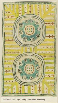 Rug design by Swedish artist Ann-Mari Forsberg, 1944