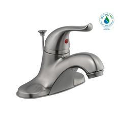 The Glacier Bay Constructor 4 in. Single-Handle Low-Arc Bathroom Faucet in Chrome has a nostalgic look and will complement a wide variety of bathroom decor. WaterSense certified with a GPM water flow rate to help reduce water use and ceramic disc