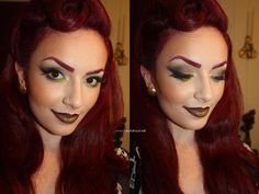 Poison Ivy Costume Makeup | Poison Ivy Costume Makeup Tutorial Love her hair and make up