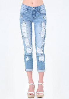 Embellished Girlfriend Jeans from Bebe R1490,00