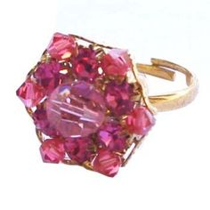 Golden ring with red crystal http://enewmall.com/women-rings/