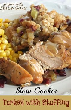 Spice Gals: Slow Cooker Turkey with Stuffing #SlowCookerThanksgiving