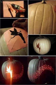 DIY Tinkerbell Pumpkin halloween halloween party halloween decorations halloween…