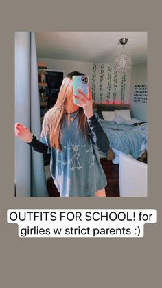 Cute Lazy Outfits, Cute Outfits For School, Outfits For Teens, Stylish Outfits, Teen Fashion Outfits, Girl Outfits, Strict Parents, Vetement Fashion, Neue Outfits